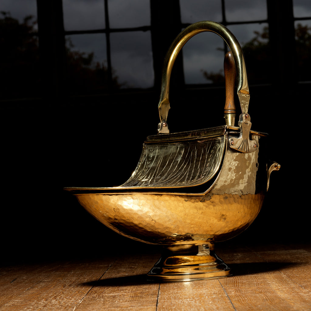 19th Century Brass Coal Scuttle - Main View -1