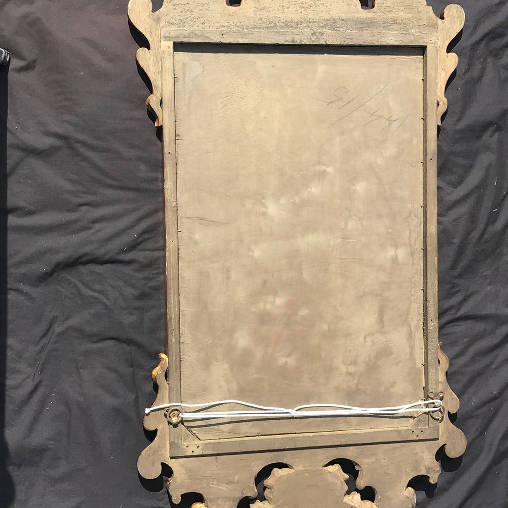 George III Carved & Gilded Rectangular Mirror - Back View - 7