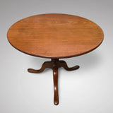 George III Mahogany Tilt Top Breakfast/Centre Table - Top View - 2