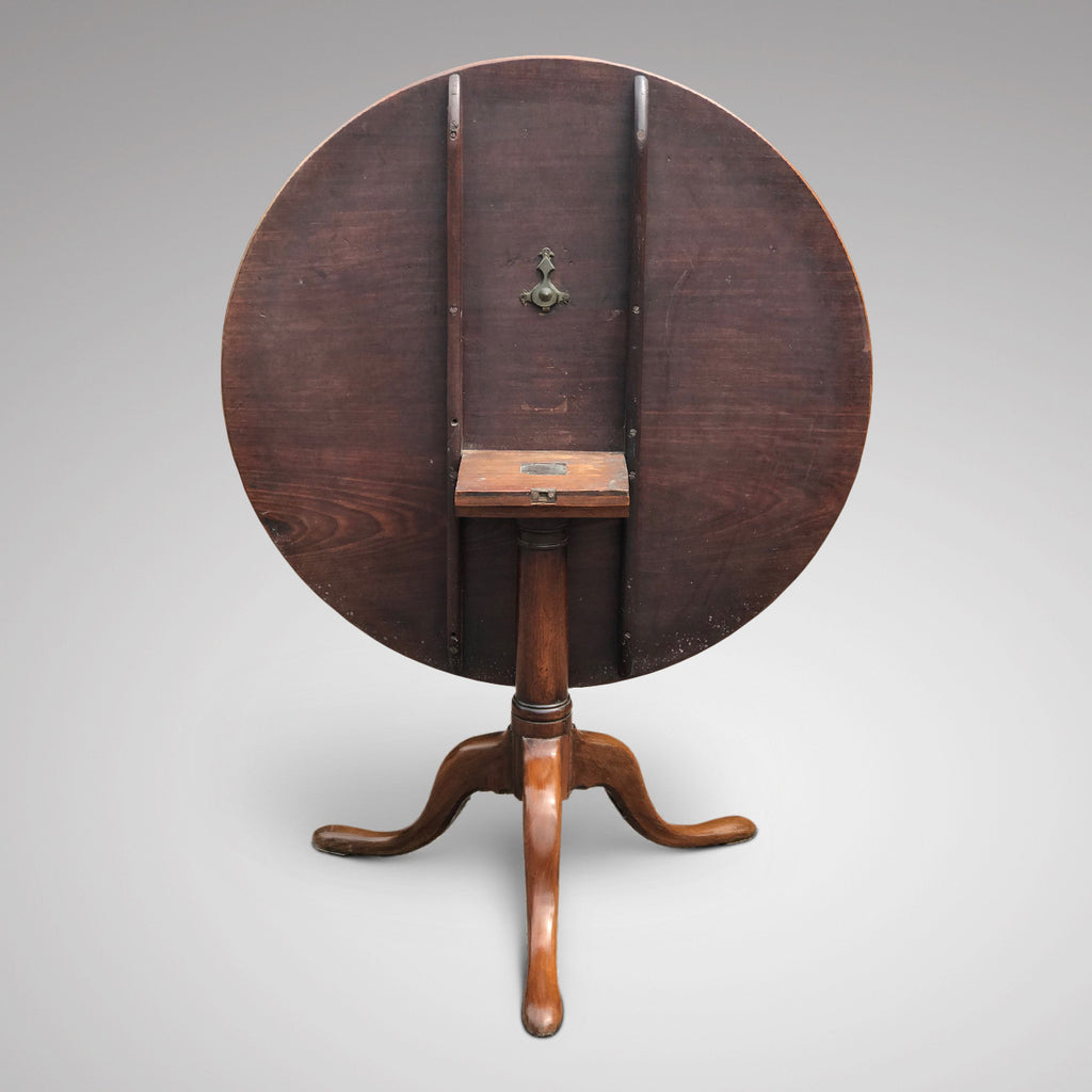 George III Mahogany Tilt Top Breakfast/Centre Table - Back View - 3