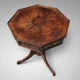 A Regency Oak Octagonal Table - Top View - 2