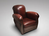 French Art Deco Leather Club Chair - Hobson May Collection - 1