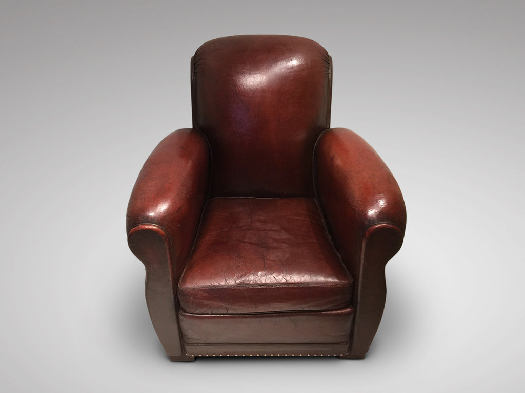 French Art Deco Leather Club Chair - Hobson May Collection - 2