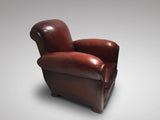 French Art Deco Leather Club Chair - Hobson May Collection - 3