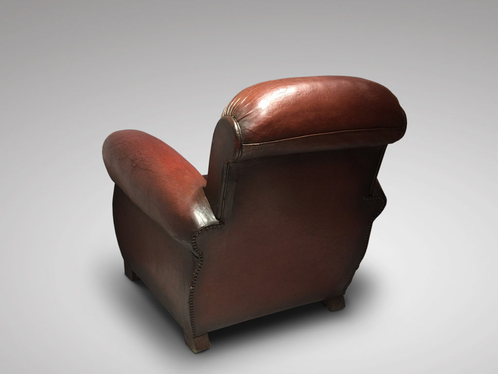 French Art Deco Leather Club Chair - Hobson May Collection - 4