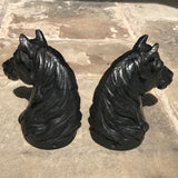 Pair of Victorian Cast Iron Horse Tethers - Back View - 4