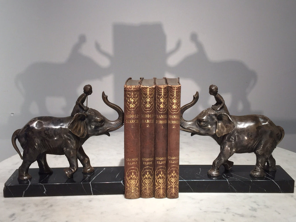 Pair of Art Deco Elephant Bookends - Hobson May Collection - 2