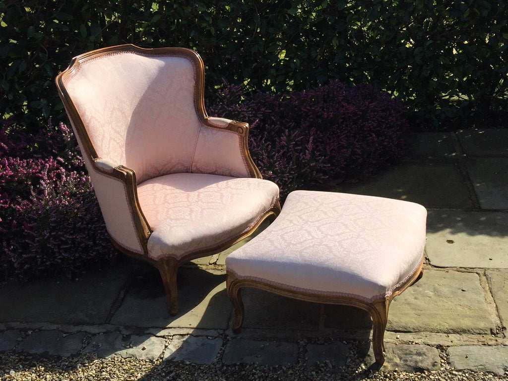 French Armchair with  Footstool - Hobson May Collection - 3