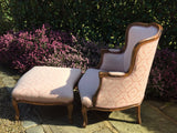 French Armchair with  Footstool - Hobson May Collection - 4