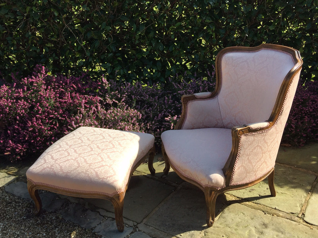 French Armchair with  Footstool - Hobson May Collection - 1