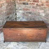 Early 19th Century Elm Blanket Box - Back View - 4