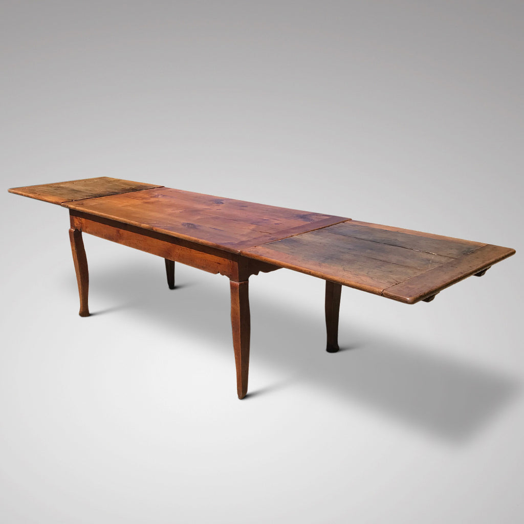 19th Century Fruitwood Extending Dining Table - Main Extended View - 1