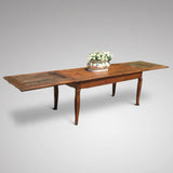 19th Century Fruitwood Extending Dining Table - Extended View - 6