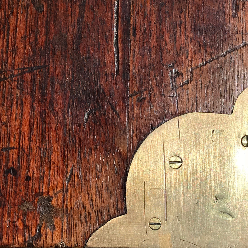19th Century Teak Brass Cornered Trunk - Detail View - 3