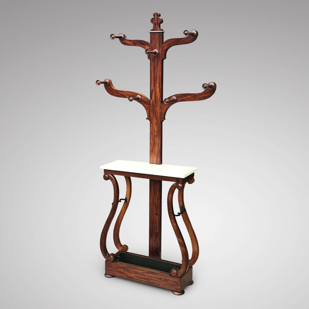 Victorian Mahogany Hall Stand with Marble Top - Main View - 1