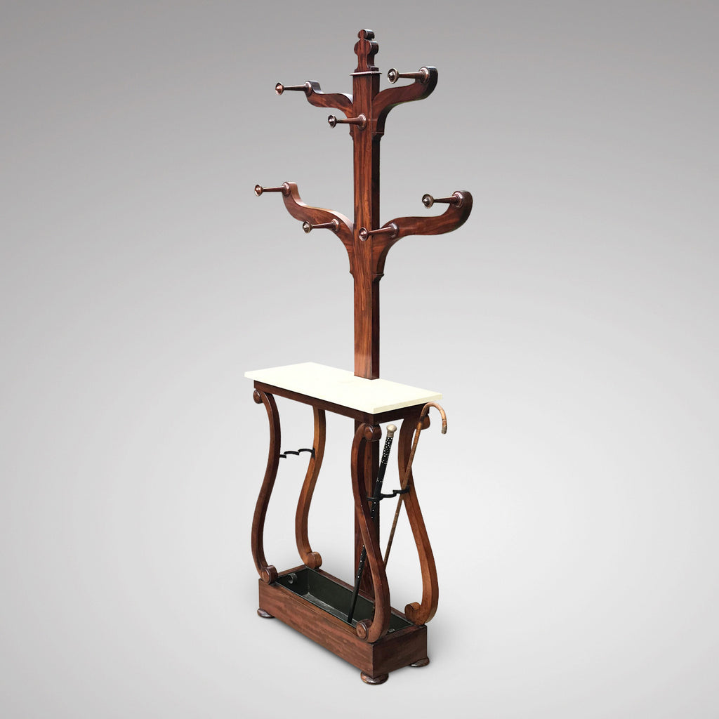 Victorian Mahogany Hall Stand with Marble Top - Main View - 2