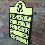 Art Deco Bus Stop Sign - Side View-2