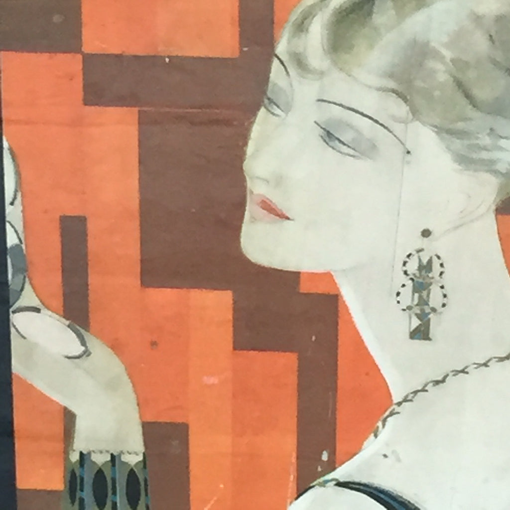 Art Deco Advertising Poster - Close up View - 2