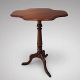 19th Century Mahogany Tilt Top Table - Front View Top Down - 4