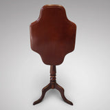 19th Century Mahogany Tilt Top Table - Front View Tilted - 3