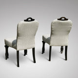 Pair of 19th Century Ebonised Side Chairs - Back View - 5