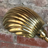 Art Nouveau Adjustable Brass Desk Lamp - Shade Detail View - 3