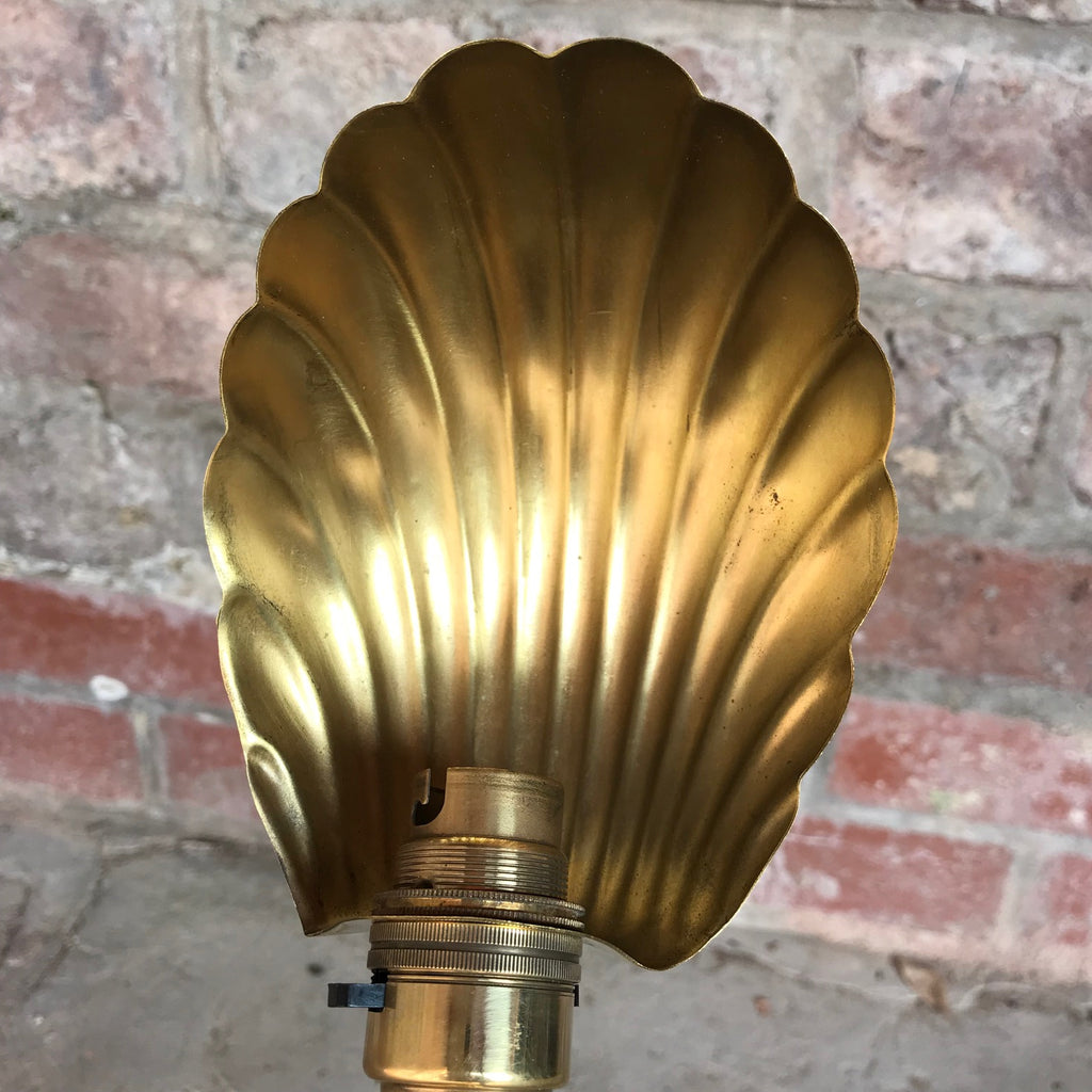 Art Nouveau Adjustable Brass Desk Lamp - Shade Detail View - 4