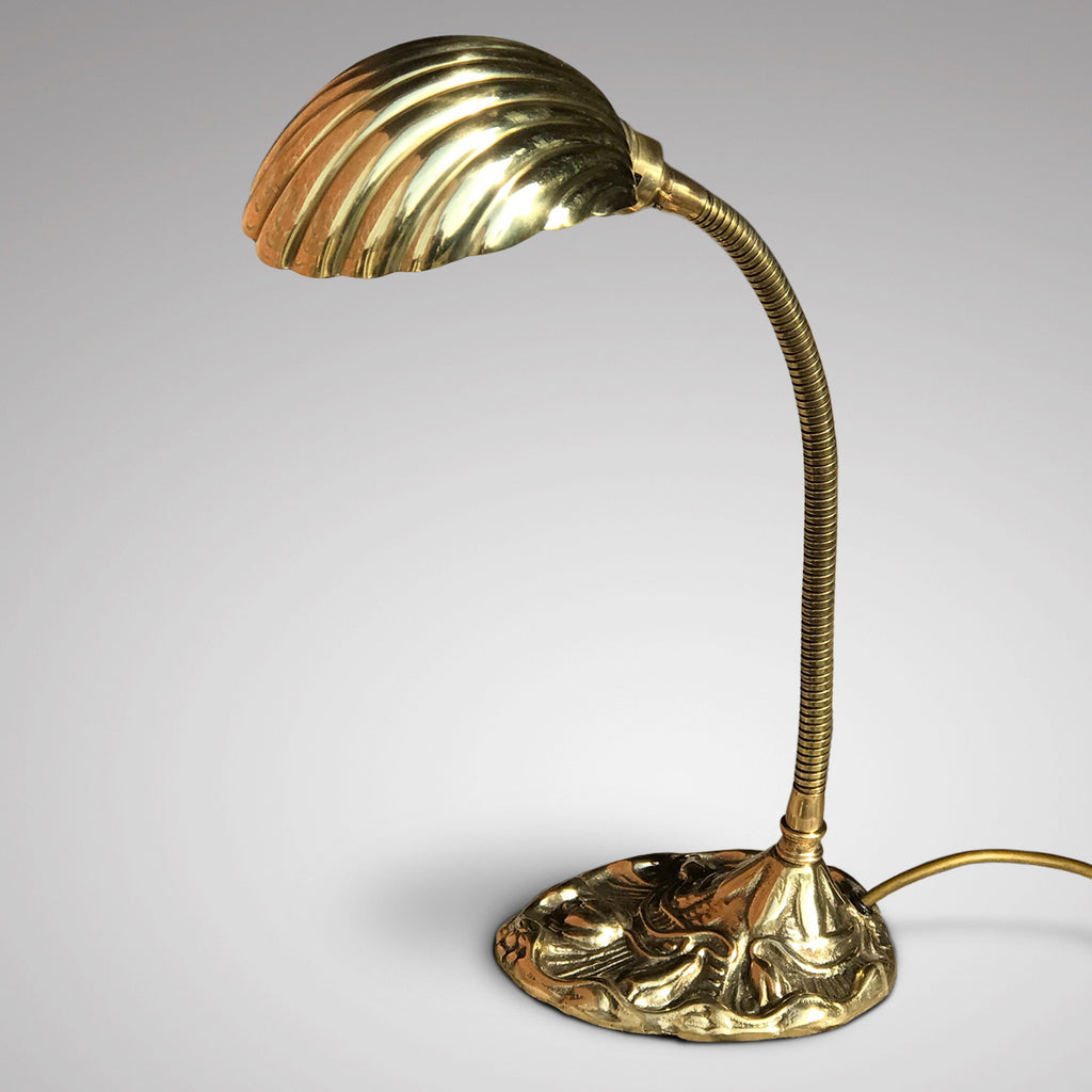 Art Nouveau Adjustable Brass Desk Lamp - Main View - 1