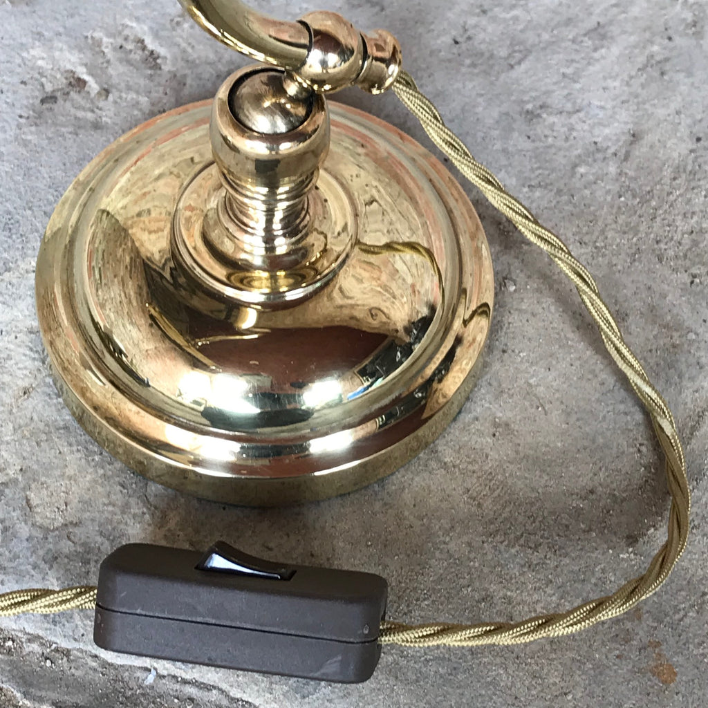 Early 20th Century Brass Desk Lamp - Switch Detail View - 3