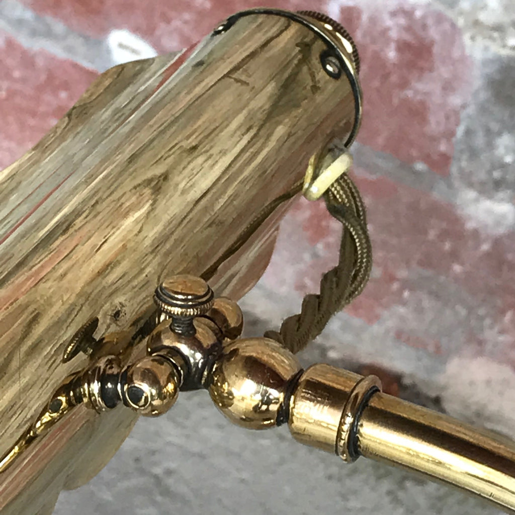 Early 20th Century Brass Desk Lamp - Top Detail View - 2