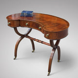 Antique Mahogany Kidney Shaped Writing Table - Front View Two