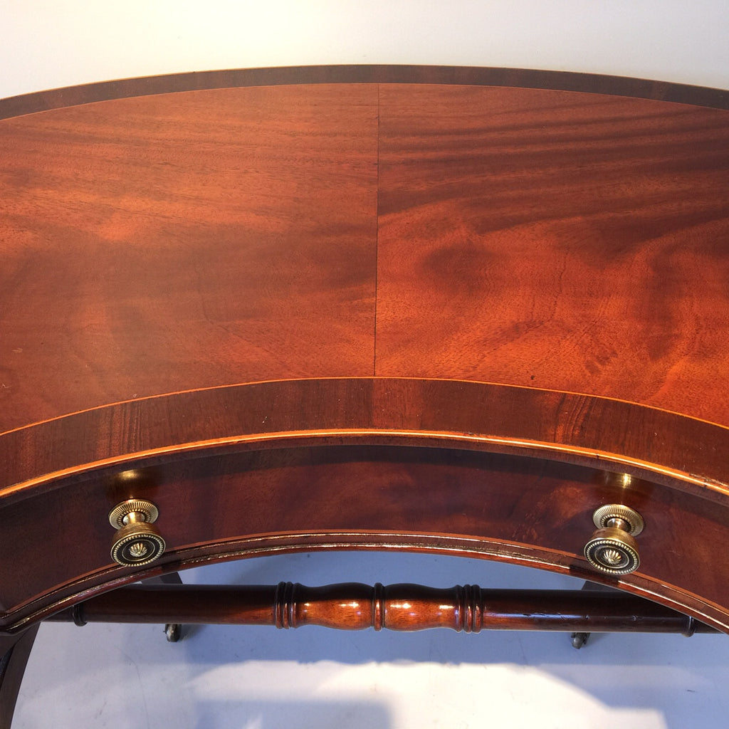 Antique Mahogany Kidney Shaped Writing Table - Top View Two