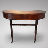 Antique Mahogany Kidney Shaped Writing Table - Back View Two