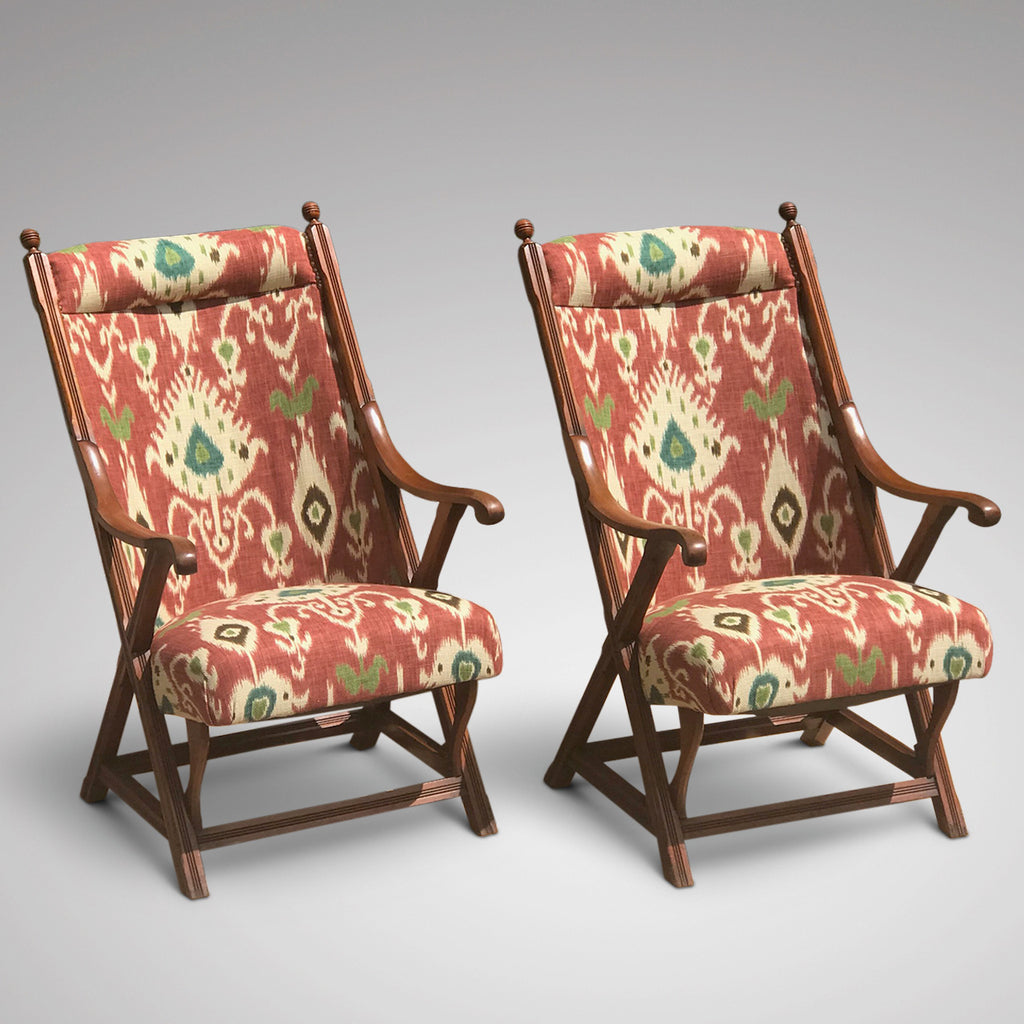 Pair of 19th Century Aesthetic Period Chairs - Front View - 4
