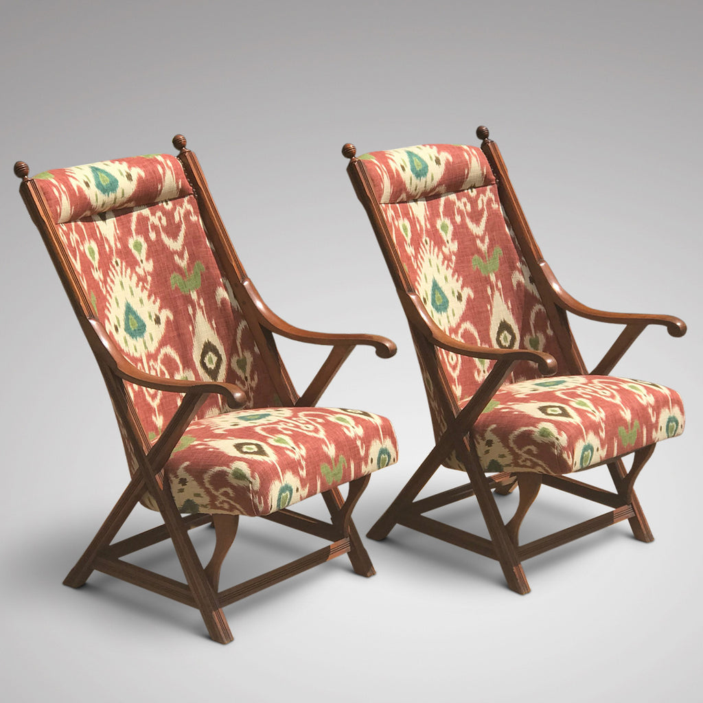 Pair of 19th Century Aesthetic Period Chairs - Front & Side View - 1