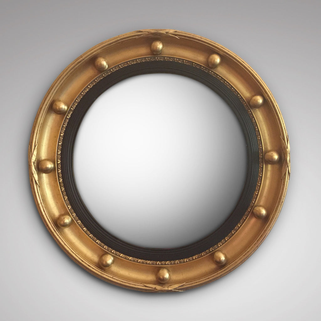 Late 19th Century Convex Mirror - Front view edited glass 1