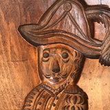 Enormous 19th Century Elm Gingerbread Mold - Detail View - 2