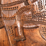 Enormous 19th Century Elm Gingerbread Mold - Detail View - 3