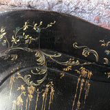 19th Century Papier Mache Tray on Later Stand - Detail View - 8