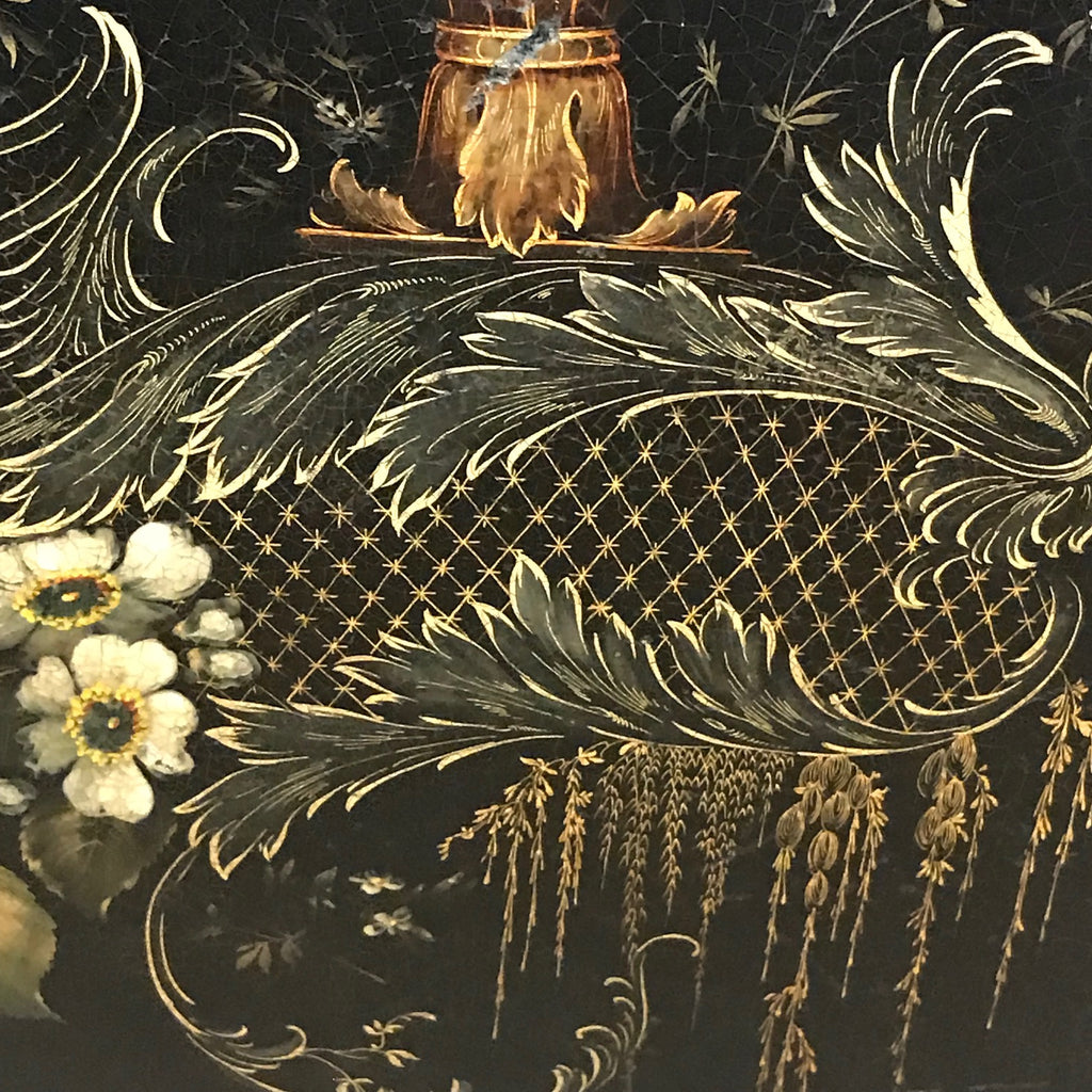 19th Century Papier Mache Tray on Later Stand - Detail View - 5