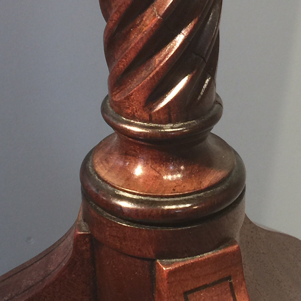 Regency Mahogany Reading Table - Detail view of pedestal