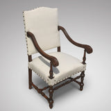 Late 19th Century Open Armchair - Front & side view 2
