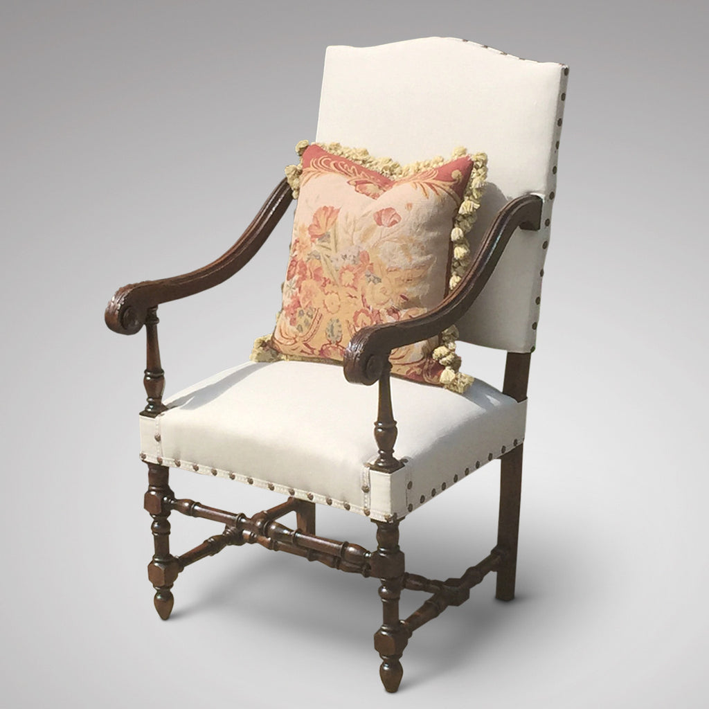 Late 19th Century Open Armchair - Front & side view 1