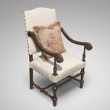 Late 19th Century Open Armchair - Front & side view 3