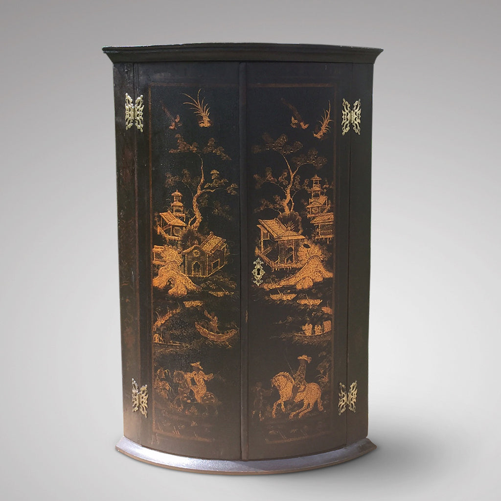 Antique Chinoiserie Corner Cupboard - Hobson May Collection - 1
