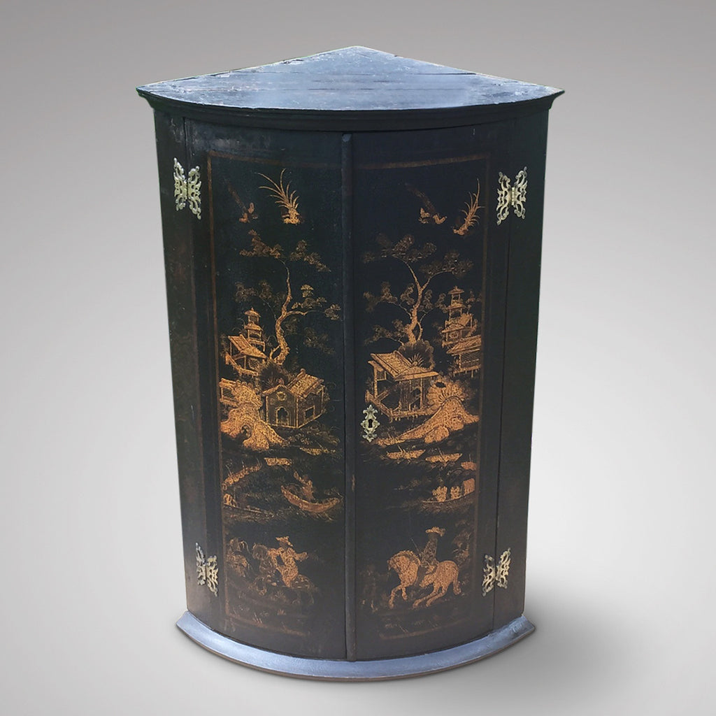 Antique Chinoiserie Corner Cupboard - Hobson May Collection - 2