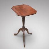 Regency Mahogany Reading Table - Front view top flat