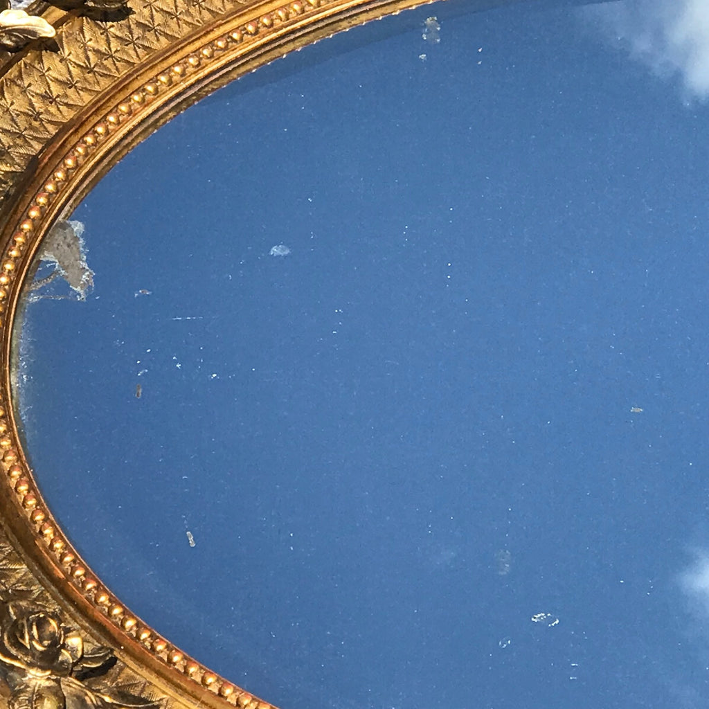 George IV Giltwood Oval Mirror - Detail View - 4