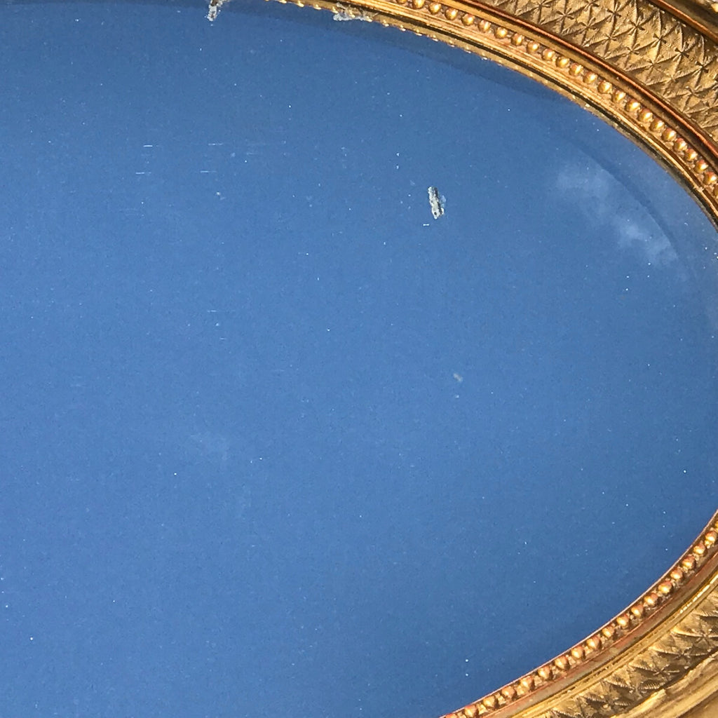 George IV Giltwood Oval Mirror - Detail View - 5