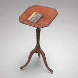 Regency Mahogany Reading Table - Front view top tilted